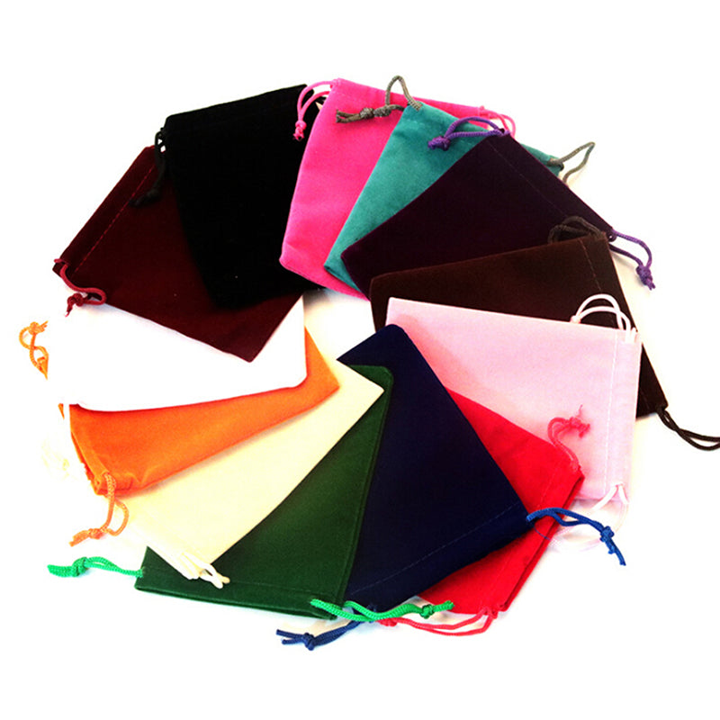 10Pcs Velvet Storage Bags Wedding Favor Pouch Jewelry Packaging Gift Bag Little