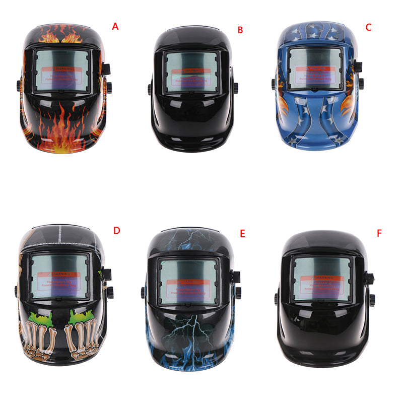 Solar Powered Auto Darkening Welding Helmet Arc Tig Mig Grinding Welder Mask
