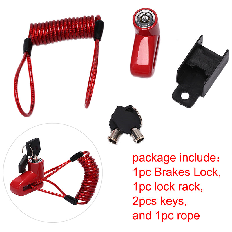 Anti-Theft Disc Brakes Lock With Steel Wire Electric Scooter Wheels Lock Brake