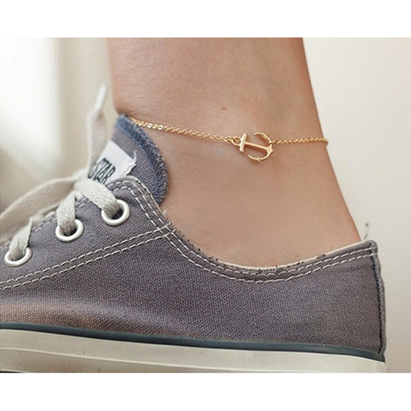 Fashion Charm Anklet Anchor Pandent Chain Foot Bracelet Ankle Foot Sandal Chain