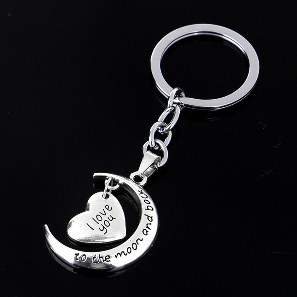 Broken Heart Silver Pendant Keyrings Keychain Key Chain Friendship Family Gift