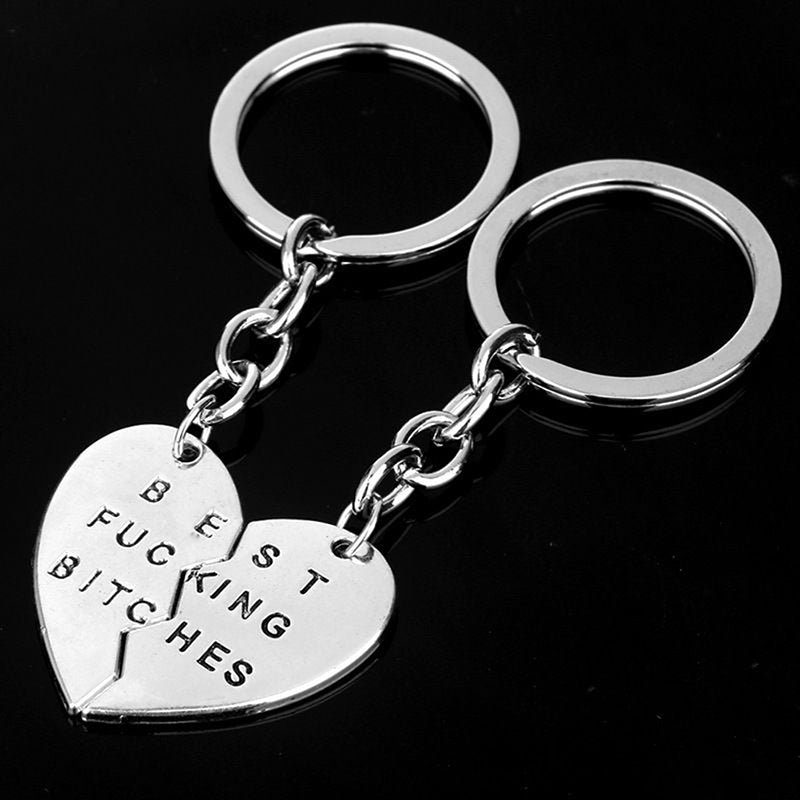 Charm Pendant Keyring Keyfob Keychain Gifts New Party Best Friend Best Bitches