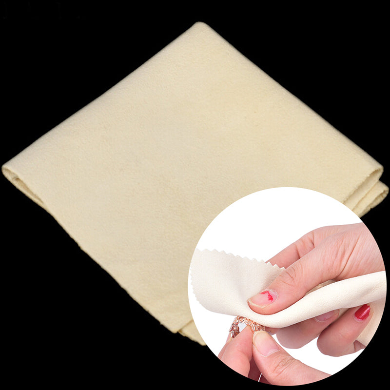 Silver Polishing Cloth Cleaner Jewelry Cleaning Cloth Anti-Tarnish Tool 15*15cm