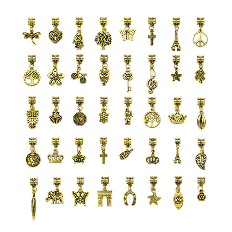 40Pcs Bulk Lots Vintage Gold Mix Charm Pendants Jewelry Making DIY Crafts