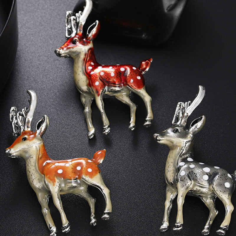Cute Small Deer Enamel Animal Lapel Collar Brooch Pin Bouquet Party Jewelry Gift