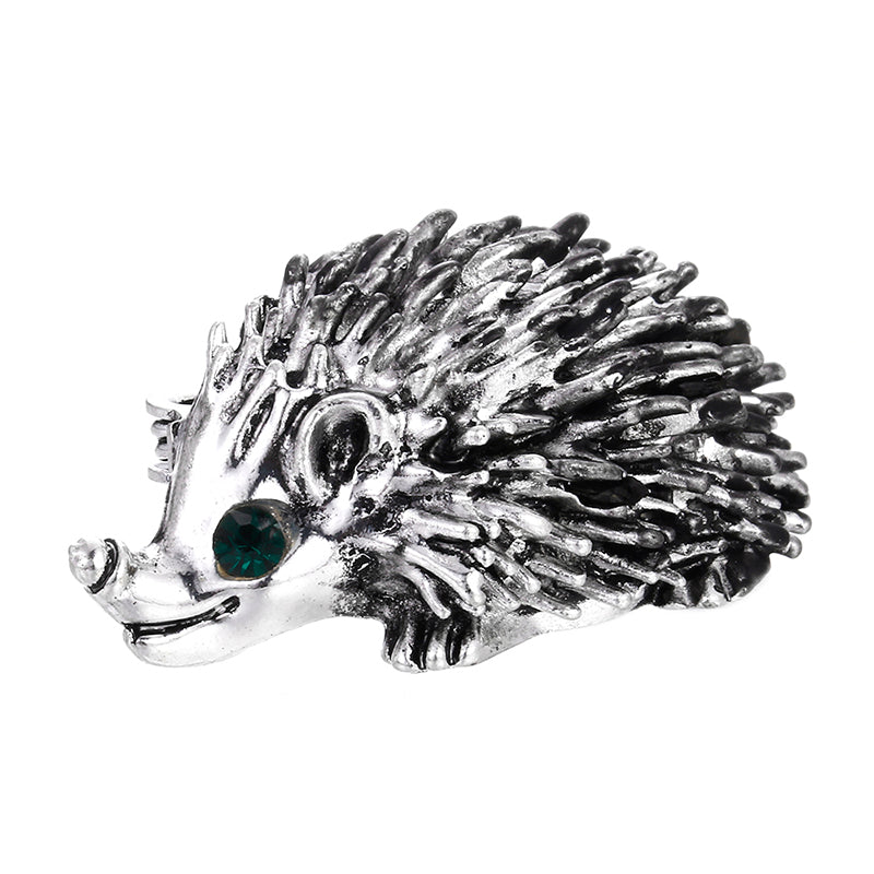 Cute Hedgehog Animal Collar Brooch Pin Wedding Bridal Bouquet Women Jewelry