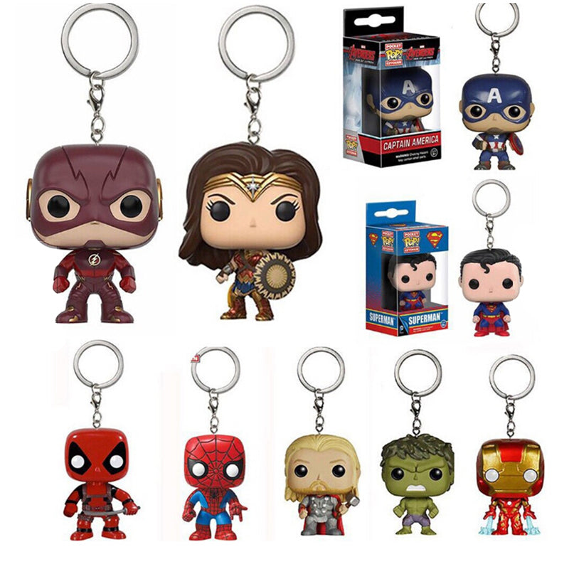 Retro Marvel The Avengers Metal Keychain Car Key Chain Keyring for Collection Car Keyfob