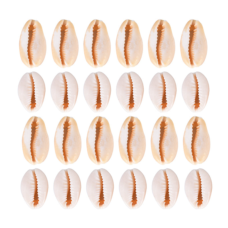 50pcs Natural Cowrie Shell Charms Pendant DIY Bracelet Necklace Jewelry Making