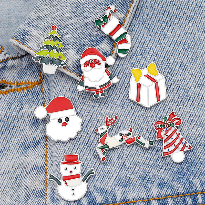 Lovely Cute Christmas Enamel Lapel Collar Pin Corsage Brooch Xmas Party Jewelry