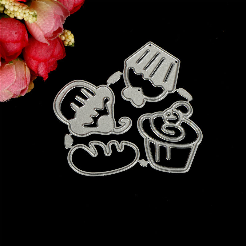 Happy Birthday cake framed Metal Cutting Dies For Scrapbooking Card Craft Decor