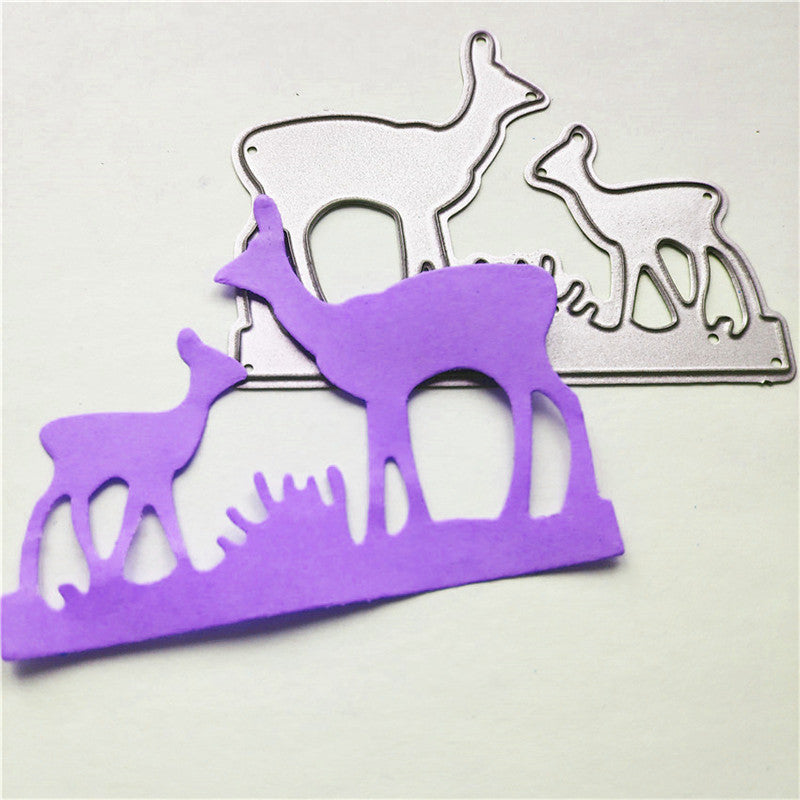 Deer Mother and Baby Metal Cutting Dies For Scrapbooking Card Craft Decor