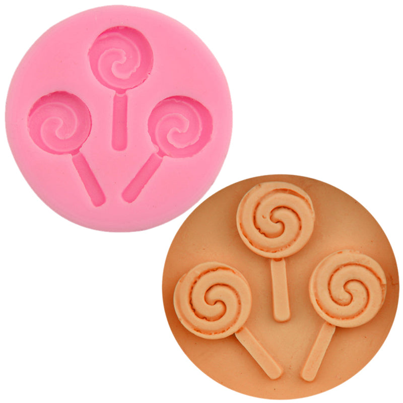 Halloween Lollipop Silicone Mold Chocolate Fondant Moulds Baking DIY