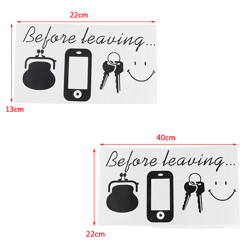 Before Leaving Reminder Quotes wall stickers Bedroom Door wall decor Bar decor