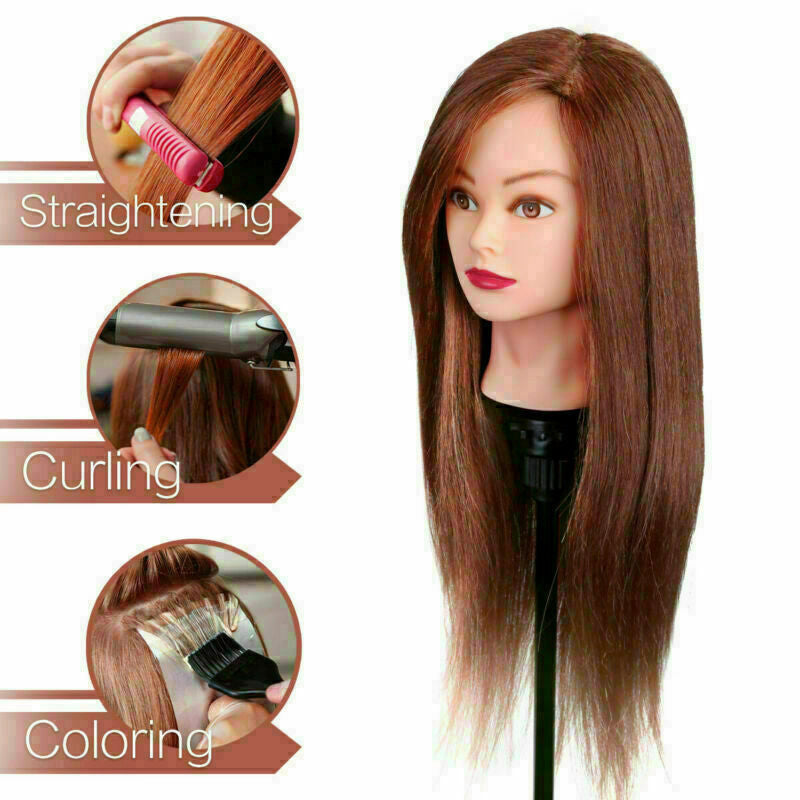 Professional Manequin head Human Hair Barber Practice Hairstyle Hairdresser Doll