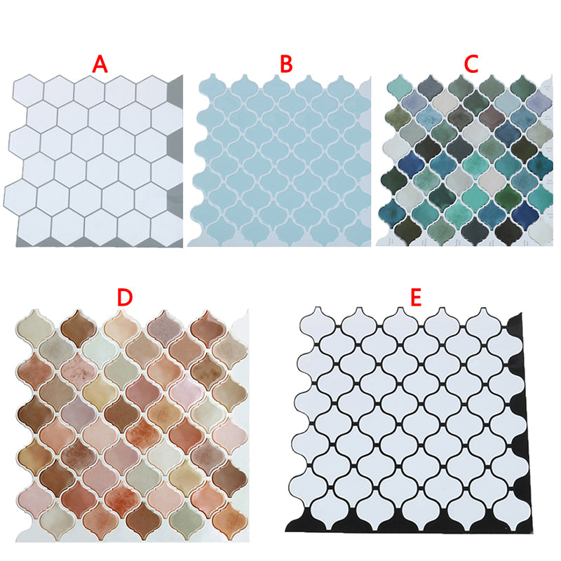 Lantern Tile Self-adhesive Back Baffle 3D Mosaic Wall sticker Bathroom DIY Decor