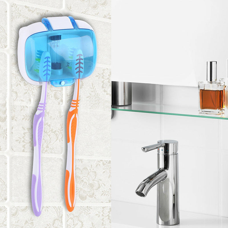 UV Light Toothbrush Sterilizer Holder Sanitizer Cleaner Tool Wall-Mounted