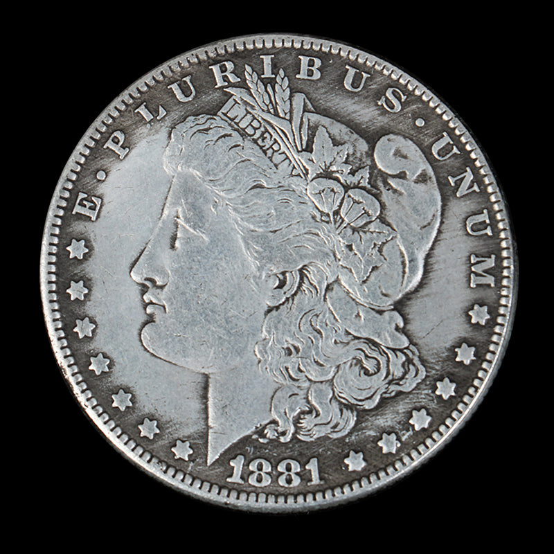 Collecting Commemorative Coin United States 1881 Red Dead Currency Morgan Dollar