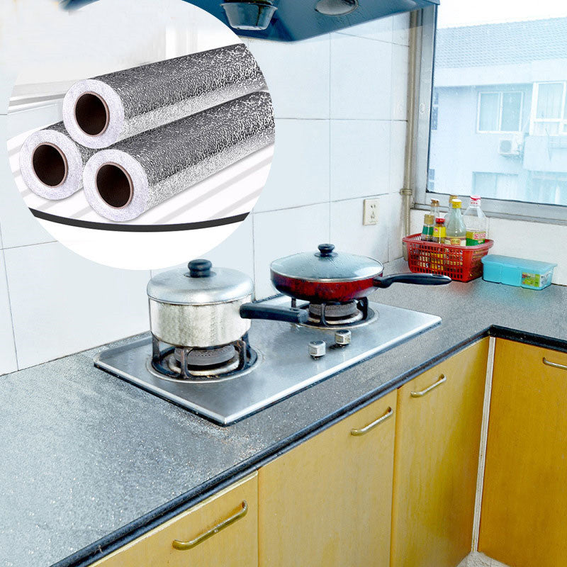 61cm*100cm Home Foil Stove Cabinet Waterproof Stickers Adhesive Wall Sticker
