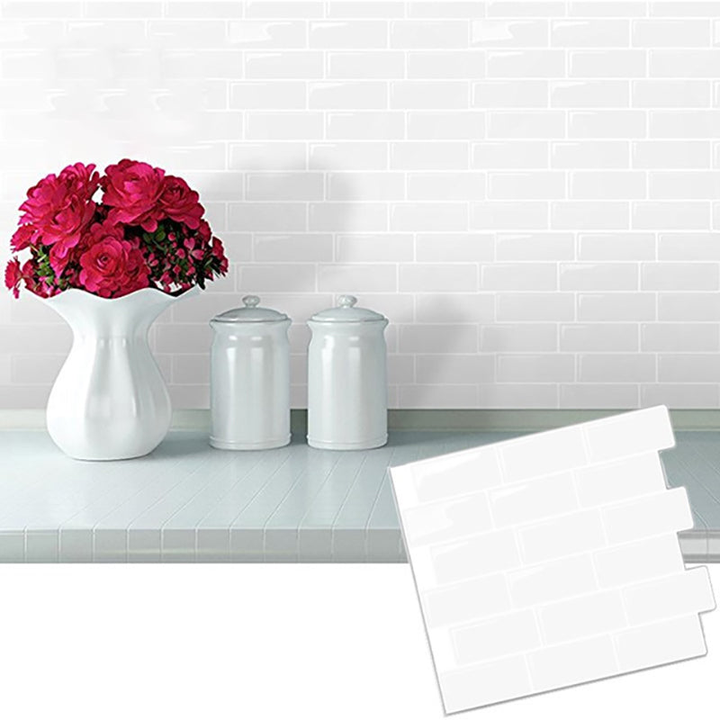 Silver Subway Back splash Tile peel and stick Self Adhesive Wall Decal Sticker