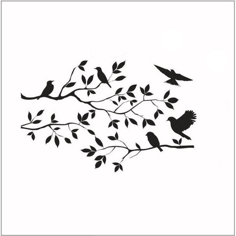 Tree & Bird Removable Wall Sticker Vinyl Art Decal Mural Window Room DIY Decor