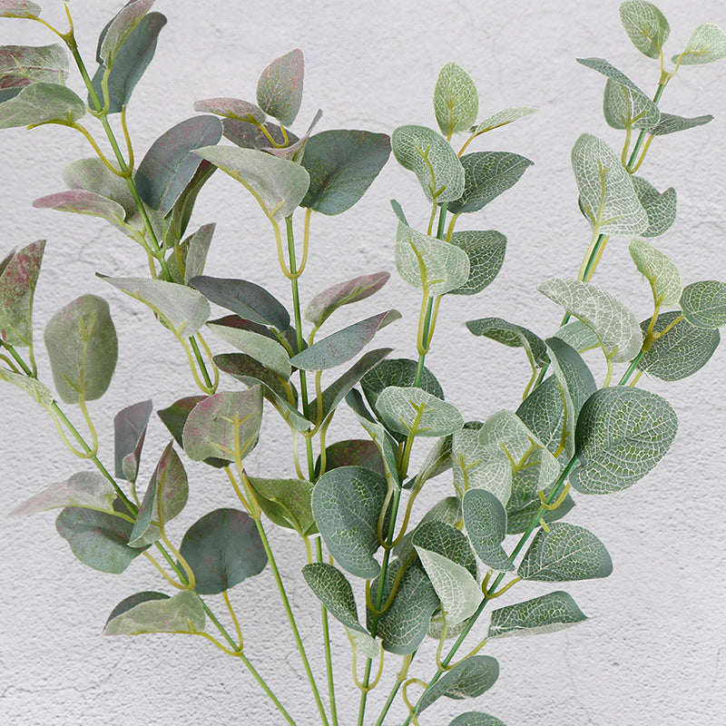 66cm Green Artificial Leaves Large Eucalyptus Leaf Plants Wall Plants Decor