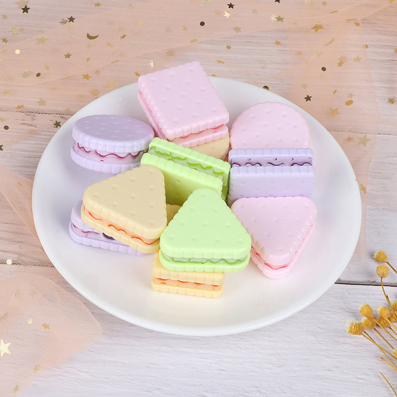1/6pcs Cute Cookie Sharpener Boys Girls Pencil Sharpener Creative Stationery