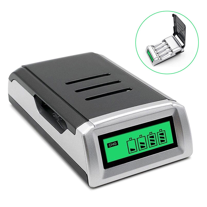 Universal Smart LCD Charger For 9V AA AAA C D Ni-MH Ni-CD Rechargeable Batteries