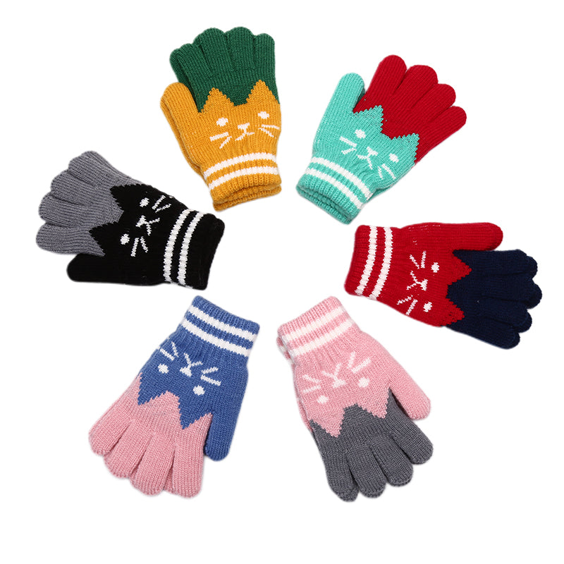 Child Kids Winter Warm Thick Gloves Baby Mittens Imitation Cashmere Baby Gloves