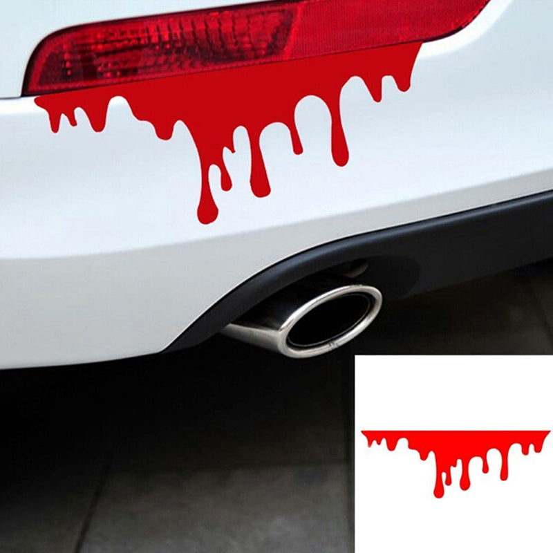 2Pcs car sticker red blood drip bleeding DIY reflective auto decal car stickers