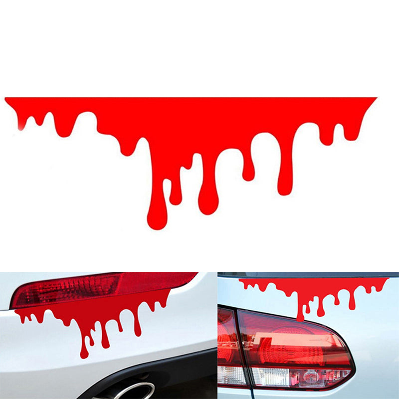 1PC car stickers red blood DIY vehicle body badge car styling stickers decal