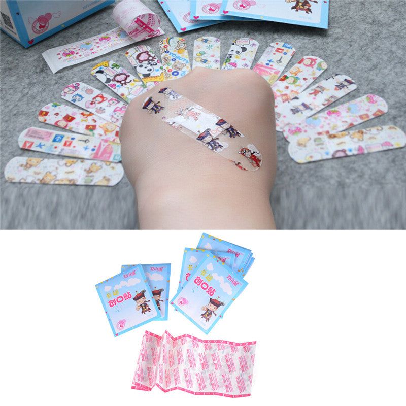 50Pcs Kids Children Cute Cartoon Band Aid Variety Different Patterns Bandages