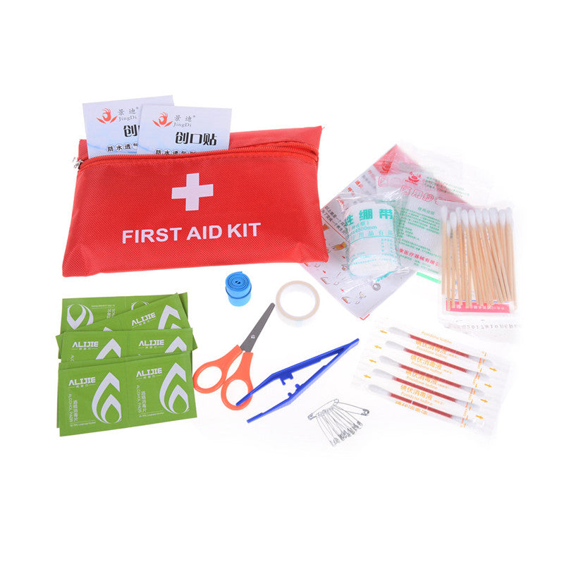 Small First Aid Kit Medical Safety Travel Sports Home Office Car Emergency Kit