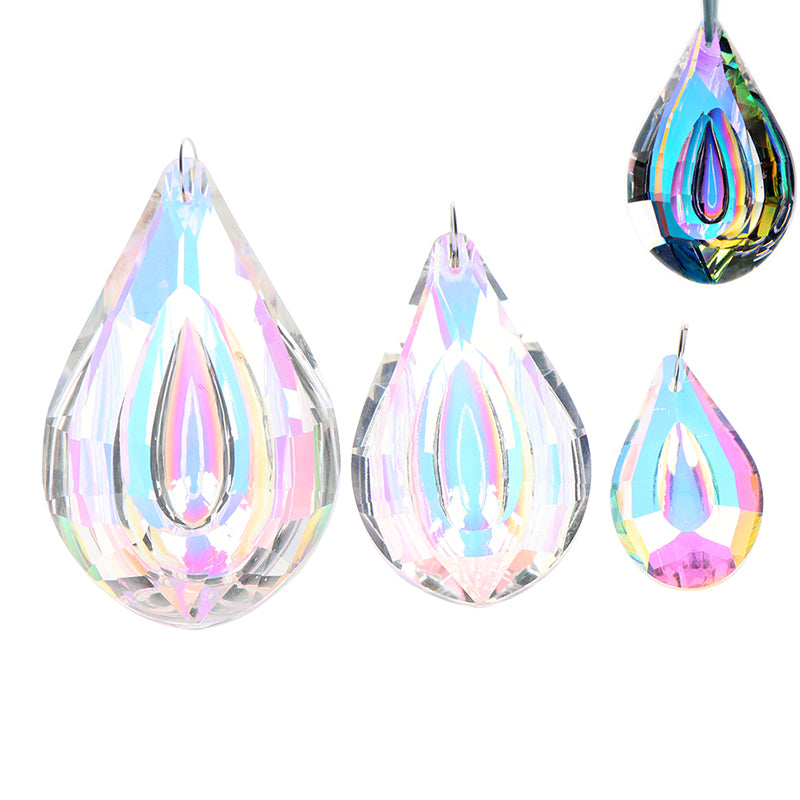 1X Colorful Chandelier Glass Crystals Lamp Prisms Parts Hanging Drops Pendants