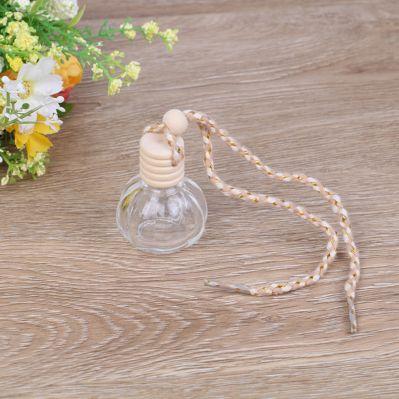 1PC 14ml car hanging empty perfume glass bottle pendant auto home ornament