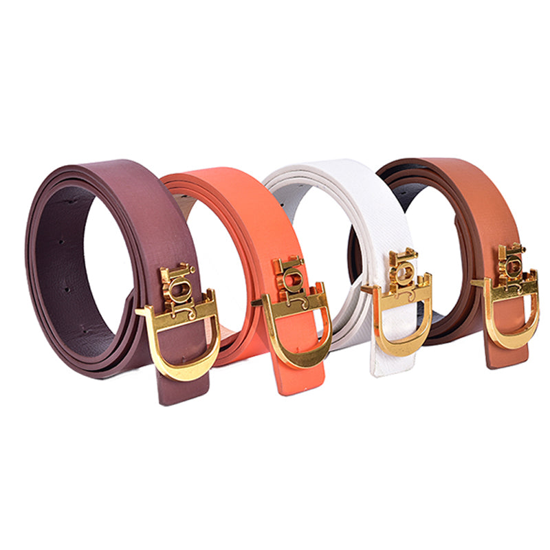 Fashion Women Belts Leather D Metal Pin Buckle Waist Belt Jeans Causal Waistband