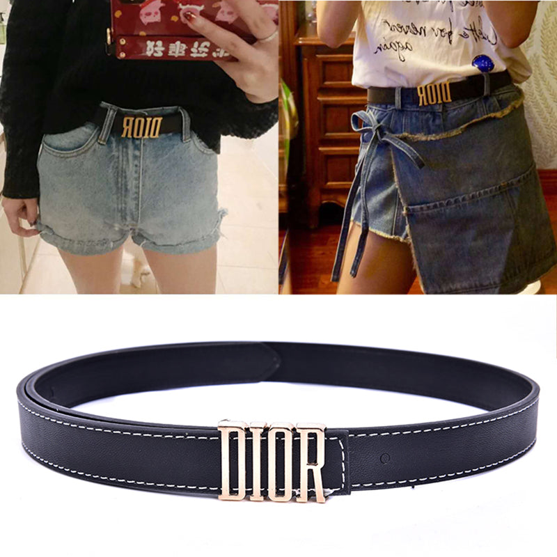 D Leather Metal Pin Buckle Women Belts Waist Belt Party Dress Decor Waistband
