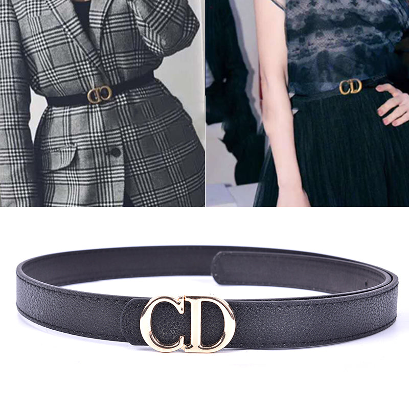 Fashion Women Belts Leather CD Metal Pin Buckle Waist Belt Waistband 110cm