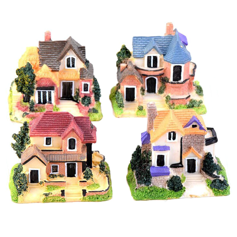 1PC Mini Villa Fairy Garden Miniatures Villa Figurines/House Garden Decoration
