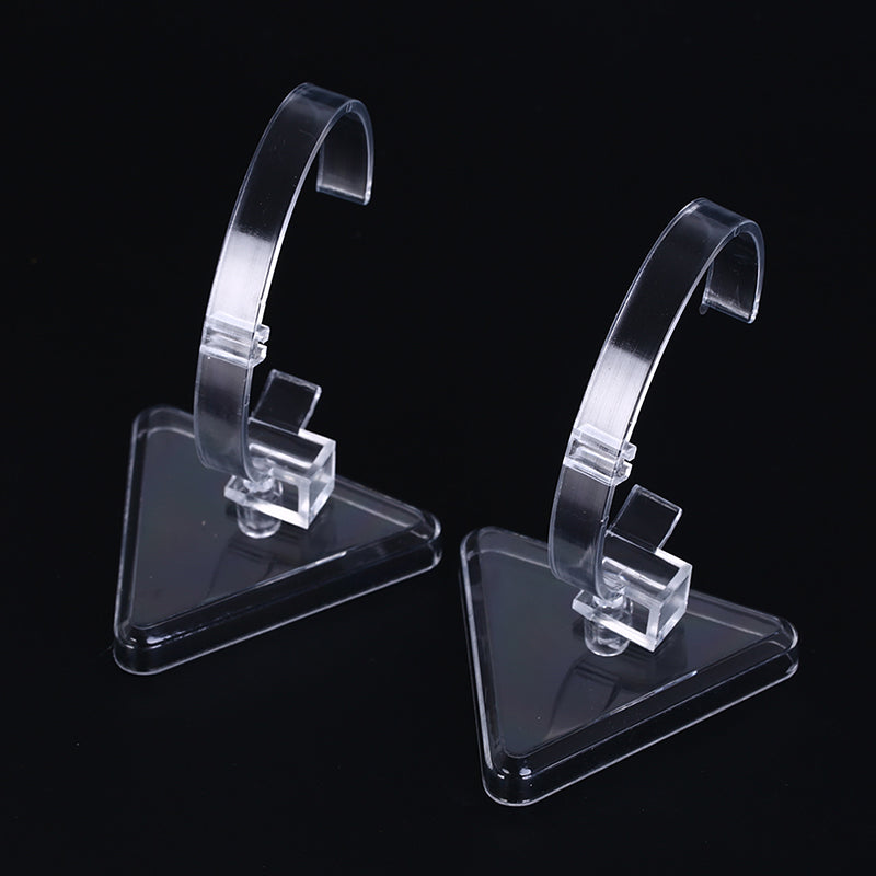 1pc clear plastic wrist watch display rack holder sale show case stand tools