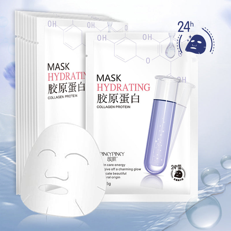Beauty Collagen Essence Facial Mask Sheet Moisture Acne Oil Control Skin Care