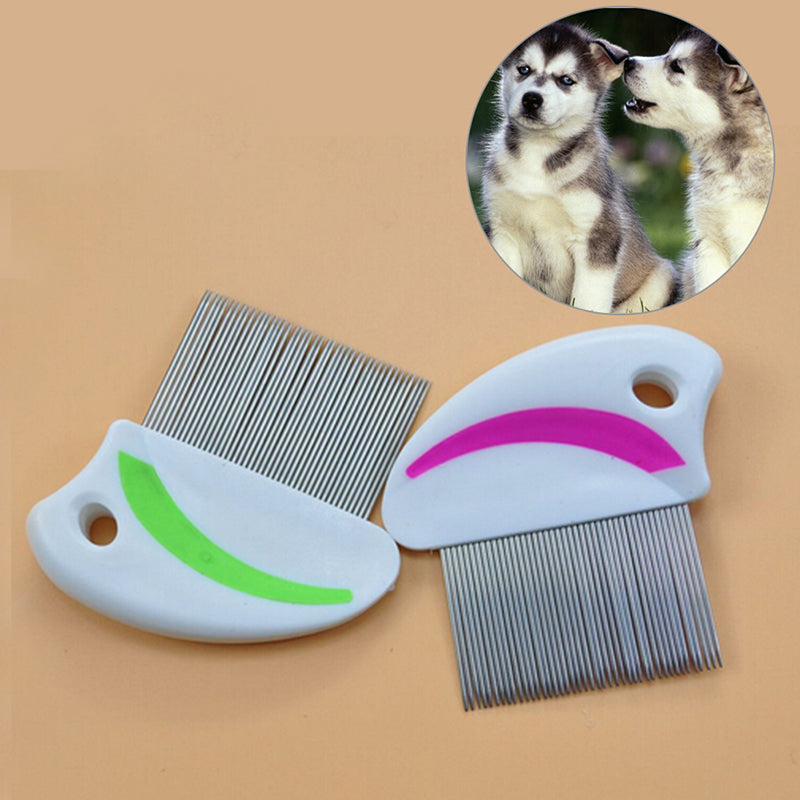 1Xstainless steel needle comb hair brush shedding flea for cat dog pets trimmer