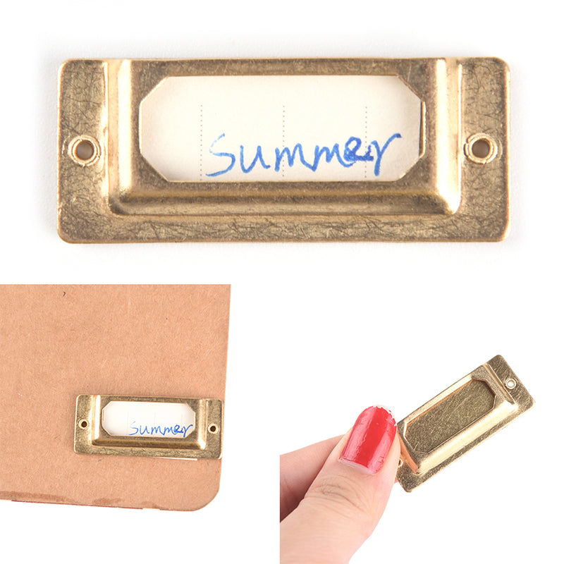 1pcs Brass Index label for Travelers Notebook Accessories Bookmarks Note Book