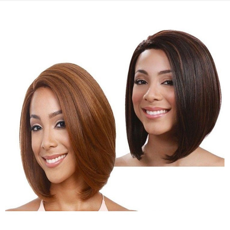 Short Bob Wig Women Straight Glueless Lace Front Human Hair