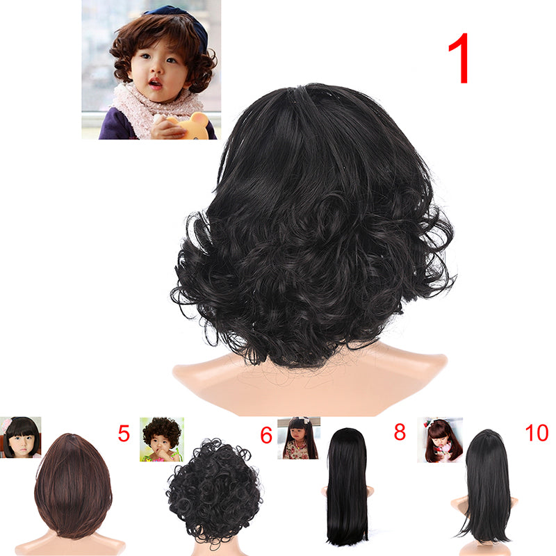 Lovely Boys Girls Hair Wig Full Head Children Wigs Kids Daily Hairpiece