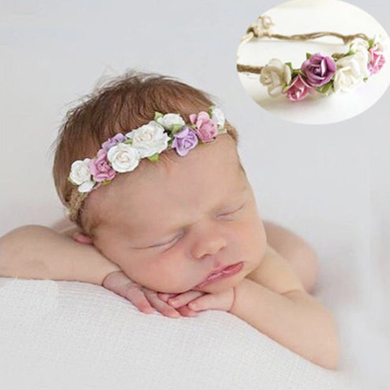 Toddler baby girls kids flower party headband hair band photo prop lovely