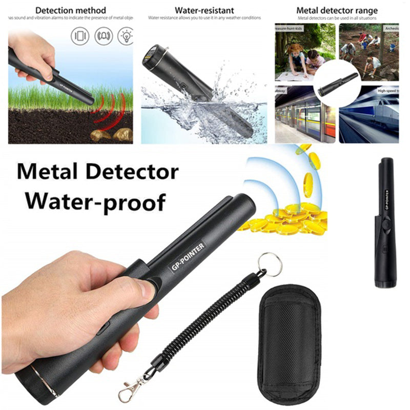 GP-Pointer Probe Metal Gold Detector Vibration Light Alarm Security Pin Pointer