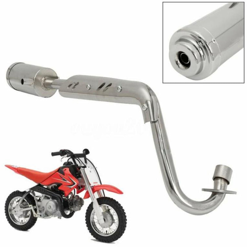 EXHAUST PIPE SYSTEM MUFFLER 4 STROKE FOR CRF50 DIRT PIT BIKE 50cc 110cc 125cc