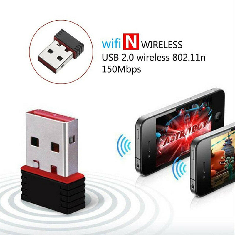 Mini USB 2.0 802.11n 150Mbps Wifi Network Lan Card Adapter For Windows Linux PC