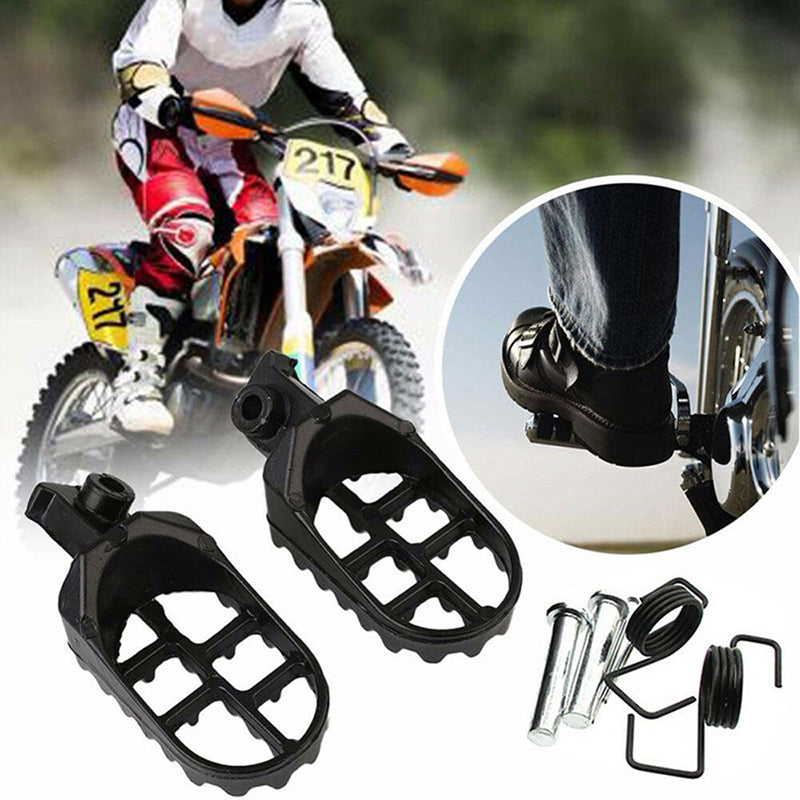 2Pcs Motorcycle Foot Pegs Pedals Footpeg Footrests Mount for Aluminium Pit Bike