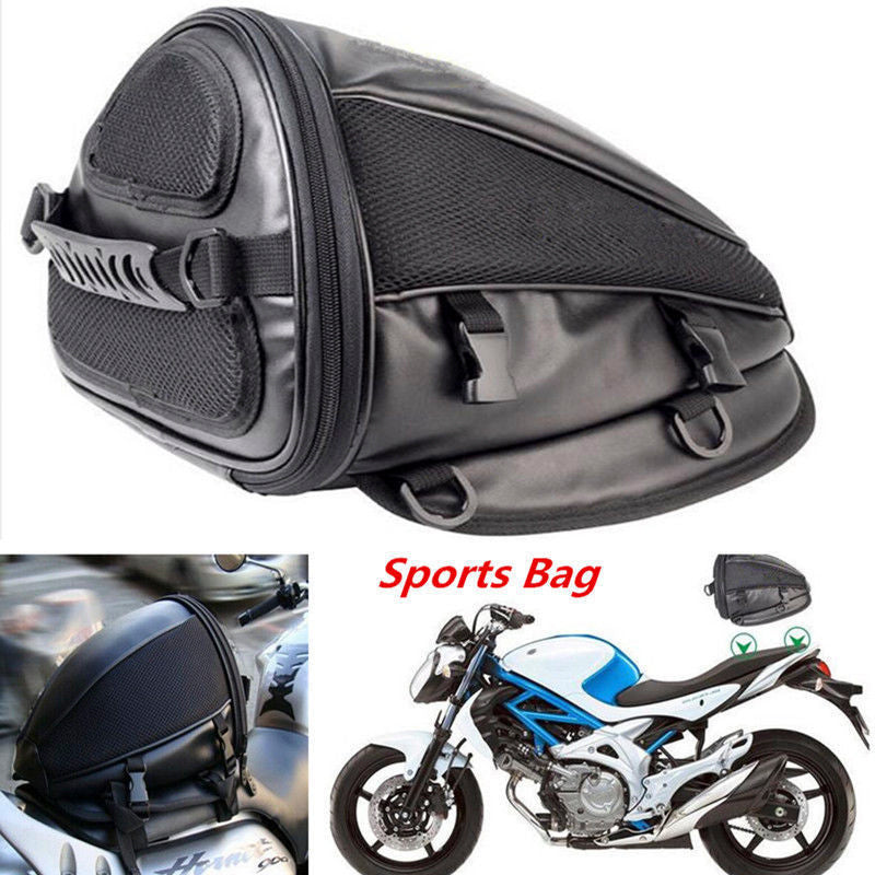 Motorcycle Dirt Bike Back Seat Bag Tail Shoulder Waterproof Bag Hand Saddlebag